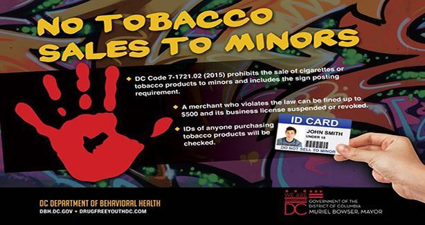No Tobacco Sales to Minors
