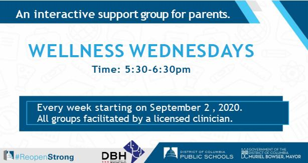 Parent Support Program - Wellness Wednesdays - Call at 530 pm Toll free number: 1-650-479-3208
